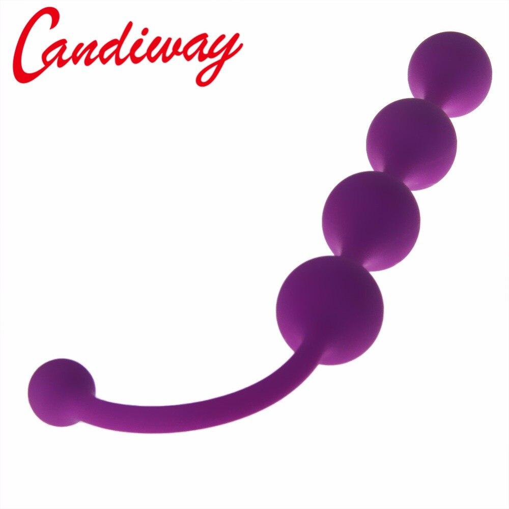 Candiway бисера Butt Plug Анальный бусы секс-игрушки дворе анус заглушкой для взрослых игра гей лесбиянки эротические игрушки интимные изделия ...