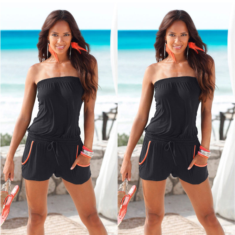 Sexy Women Summer Strapless Sleeveless Bodycon Jumpsuit Playsuit font b Romper b font Clubwear