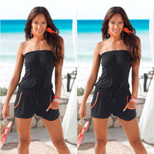 Sexy Women Summer Strapless Sleeveless Bodycon Jumpsuit Playsuit Romper Clubwear