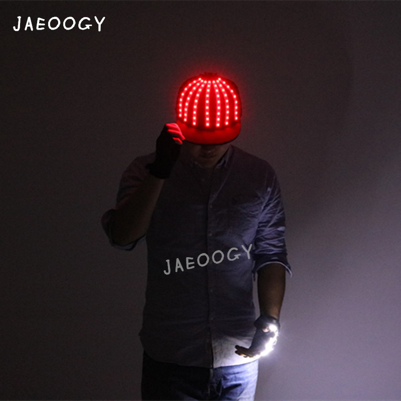 69e958d8922 Detail Feedback Questions about Free shipping high quality LED lighting hat  creative custom hip hop stage performance fluorescent gloves hat night  dance ...