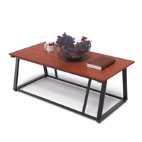 Dewel Coffee Table Cocktail Table with Storage Shelf Sofa Table Rustic End Table for Living Room 47 inch