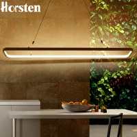 Modern Minimalism 120cm 46W Led Pendant Light Aluminum Circle Rectangle Ring Pendant Lamp Suspension Lamp For
