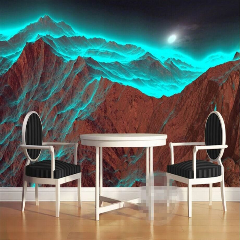 Shocking 3D volcano group mural background wall professional production mural wholesale wallpaper custom photo wall in Fabric Textile Wallcoverings from Home Improvement
