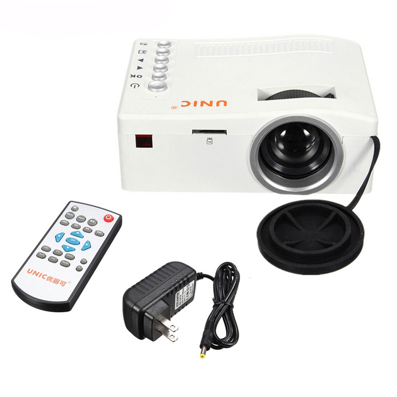 UC18 Portable Mini LED projector support 1080P video portable projector with HDMI TF card USB CVBS LED home cinema projector