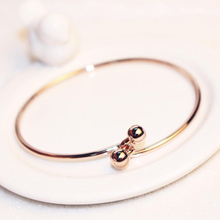 Luxury Famous Bracelet Bangle Rose Gold Simple Twist Cuff Open Bracelets For Women Brief Color Charms