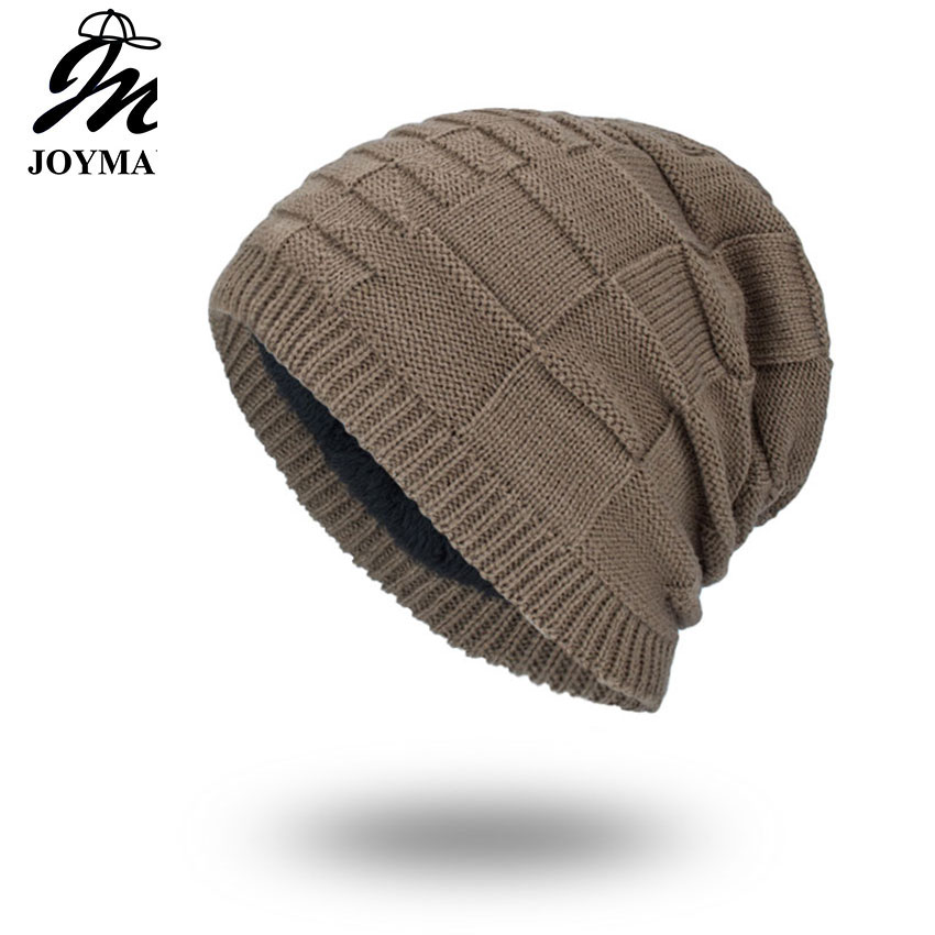 Joymay 2018 чисто нова зима есенни шапки шапка унисекс топъл мек череп плетена шапка шапки звезда шапки за мъже жени WM066