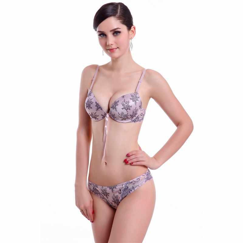 Womens Floral Lace Bra Set Lingerie Underwear Push Up Padded Bra 32 34 36 38 ABC