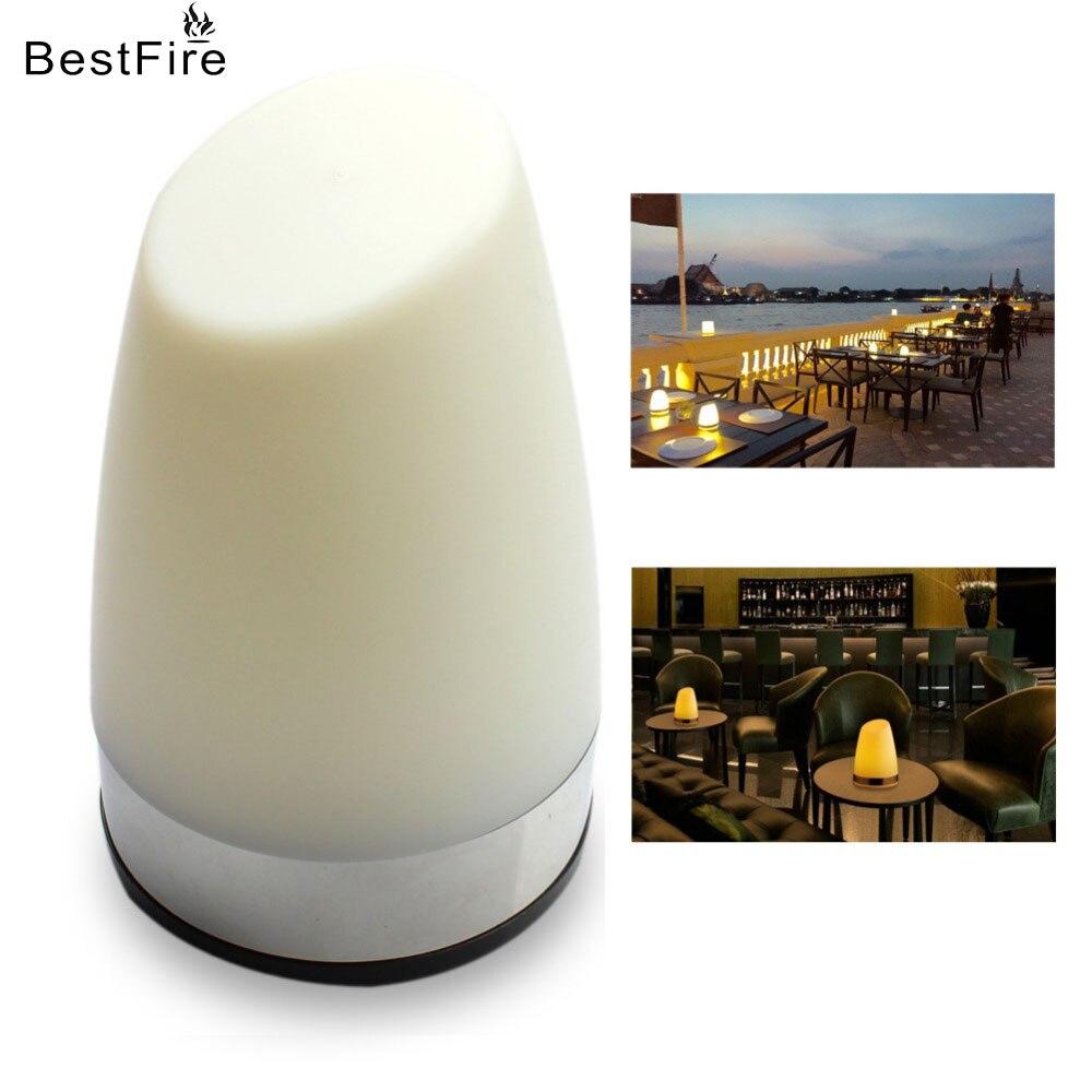 BestFire USB Ladeschreibtischlampe KTV Bar Kreative Nachtlicht Couchtisch Dekoration Tischlampe Led Solar Licht