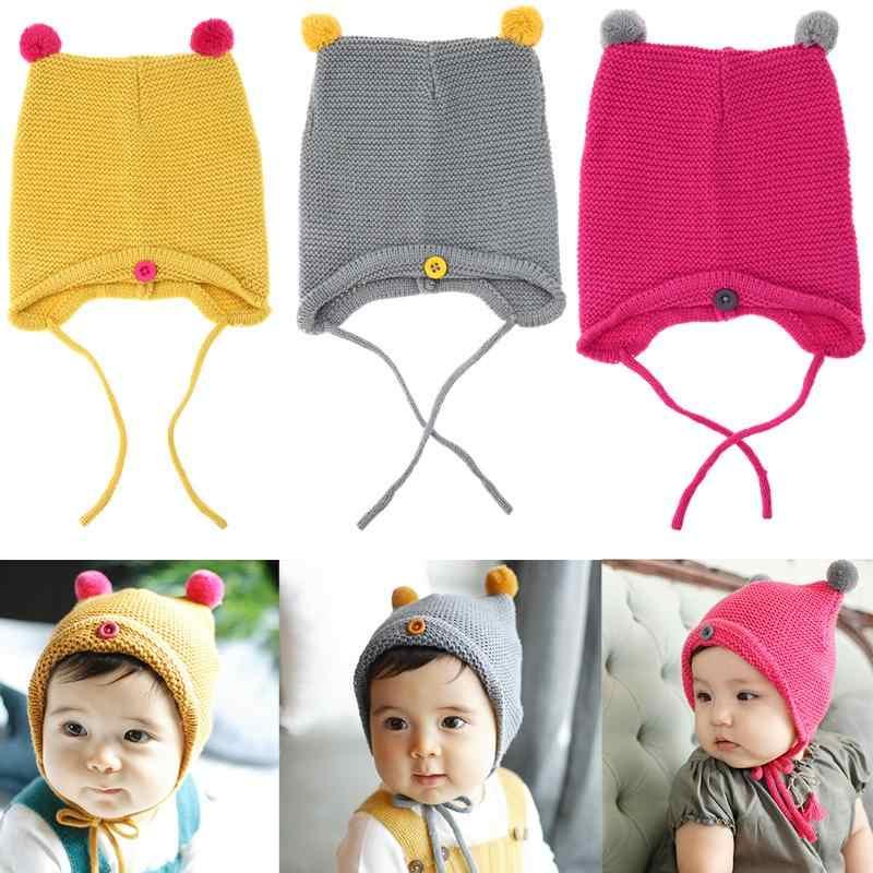 922688efb1f Fashion Autumn Winter Warm Baby Hat Infant Toddler Kids Knitted Beanie Caps  Newborn Girl Boy Photo