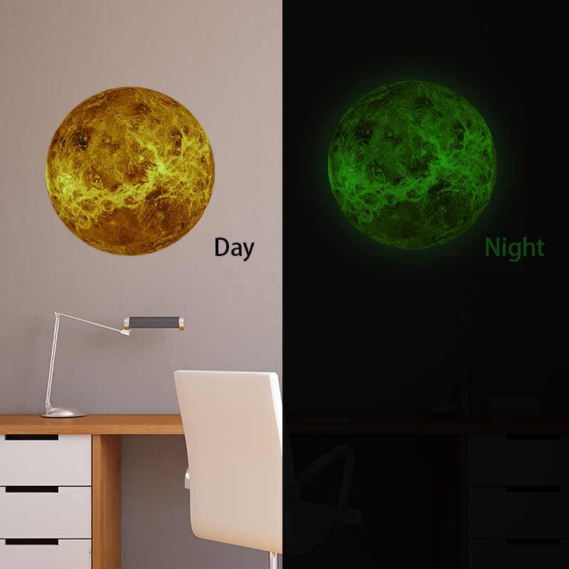 30 см светящаяся 3D наклейка светящаяся на стену с планетами s светится в темноте Луна Земля для украшения детской комнаты домашний декор