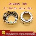 3.0 pulgadas de Cromo faro lente del proyector Q5 Hella lente shell cubierta de la capilla cubierta Pantallas Universal Tipo