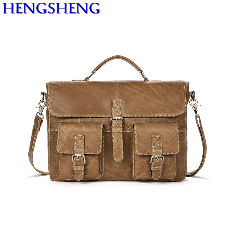 9aa120630bd0 Бесплатная доставка Новый дизайн бизнес-мужчины сумка с наивысшего качества  телячья кожа мужчины сумка и