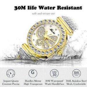 Image 4 - MISSFOX Butterfly Women Watches Luxury Brand Big Diamond 18K Gold Watch Waterproof Special Bracelet Expensive Ladies Wrist Watch