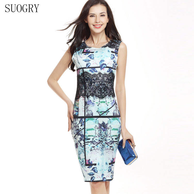 SUOGRY Women's Casual Elegant 3d Flower Embroidery Evening Mother of Bride of Tight Sheath Dress for Special Occasions.
