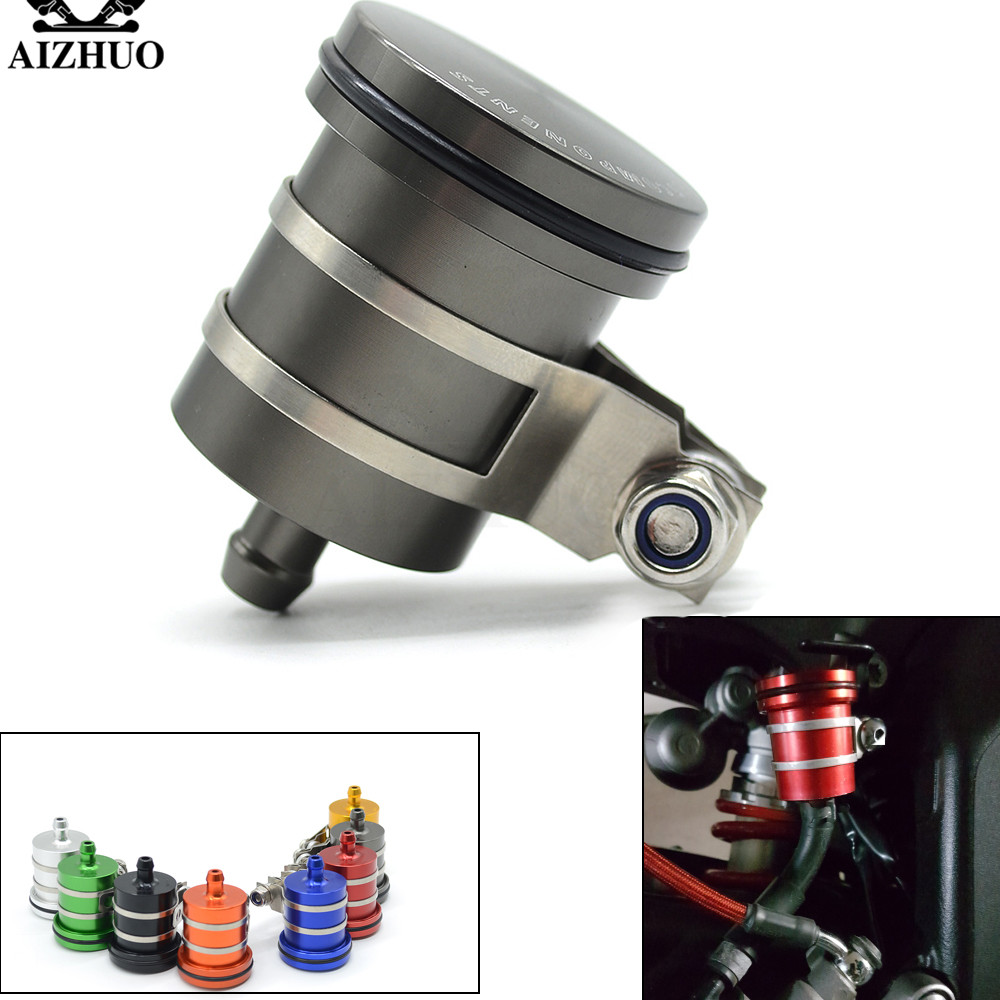 AIZHUO Brake Fluid Reservoir Oil Cup Brake Clutch Tank Universal the Motorcycle for YAMAHA XV 950 RACER V-MAX HONDA VFR 1200/F universal motorcycle brake fluid reservoir clutch tank oil fluid cup for honda pcx cb 400 vfr 800 crf 450 cb650f shadow 600 cb