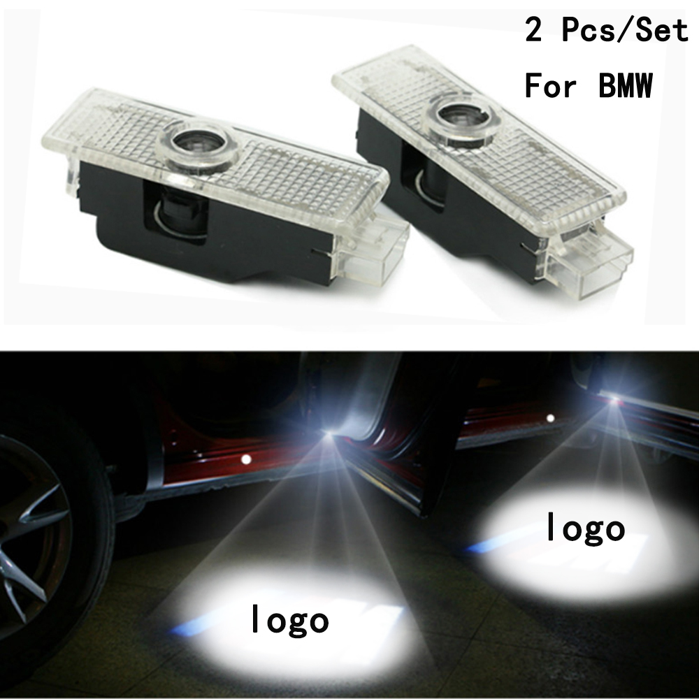 2Pcs/Set LED Courtesy With Logo Only For BMW E60/E90/F10/F30/F15/E63/E64/E65 Weclome Lamp Ghost Shadow Projetor Lens Include