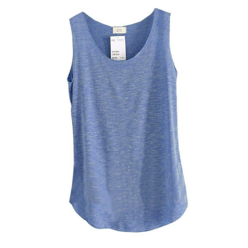2018 Loose Thin T Shirt Spring Summer   Tank     Tops   Women Sleeveless Round Neck
