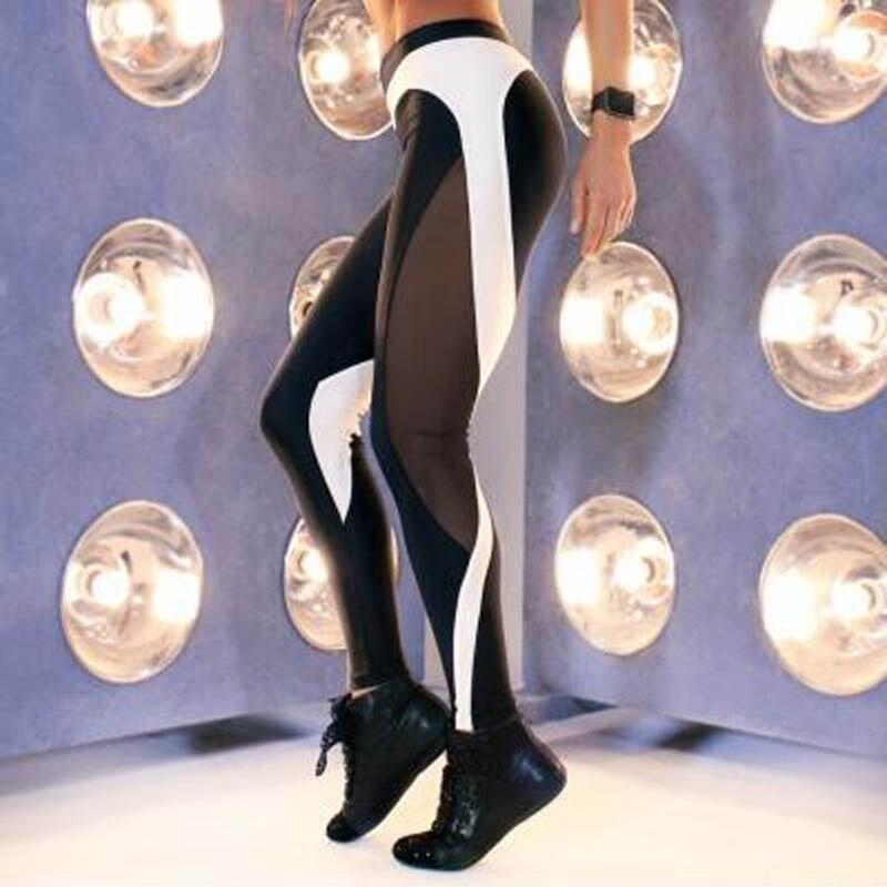 NORMOV mujeres doble corazón negro patrón cadera polainas deportivas Fitness grueso negro blanco pantalones delgados