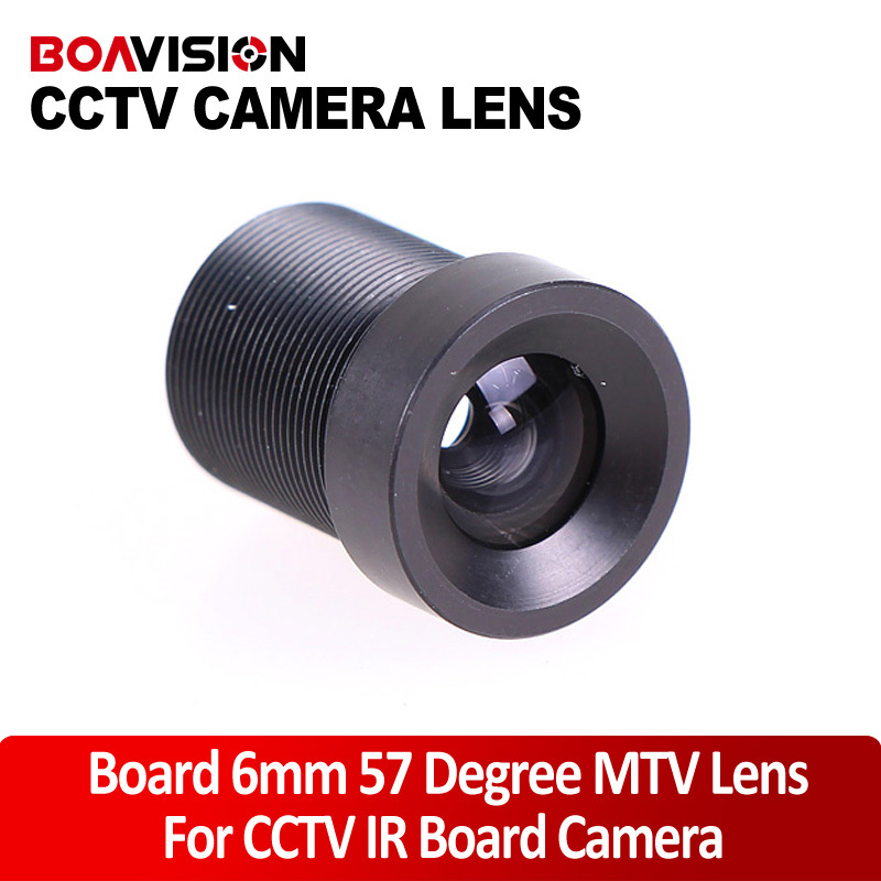 Fixed Iris 6mm 57 Degree Angle IR Board CCTV Lens M12x0.5 for 1/3 and 1/4 CCD chipsets Camera Day Night