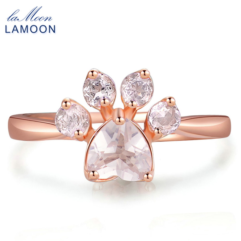 Buy lamoon cute bear 39 s paw foot print for Jewelry stores in bear delaware