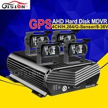 4CH H.264 фургон Автобус Грузовик заднего вида Камера gps жесткий диск видеорегистратор HDD Kit HD 1080 P AHD видео цифровой видеорегистратор для автомобиля MDVR I/O G-датчик