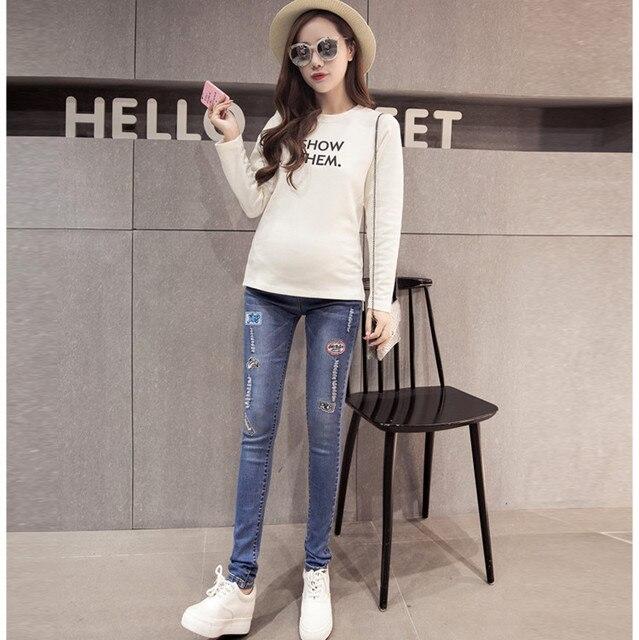 Мода Для Беременных джинсы Для Беременных Брюки