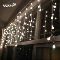 SXZM 8X0 5M Ball Led Curtain String Light 192 Leds AC220V Or 110V Indoor Fairy Decoration