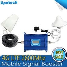 4G LTE Amplificador de Señal de teléfono celular Repetidor de señal 2600 MHz 70dBi ganar 2600 4G Iluminado Amplificador de Señal De Teléfono Móvil con pantalla lcd pantalla