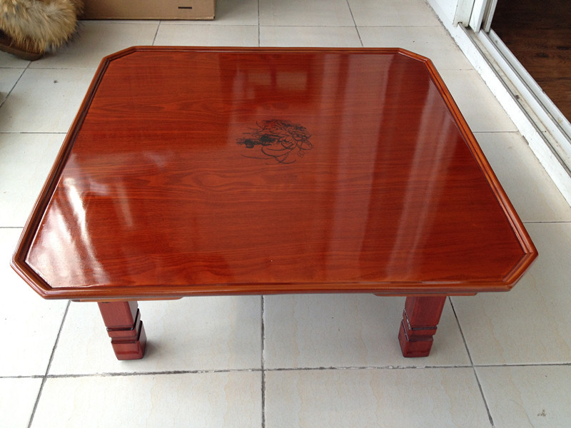 Asian Wood Furniture Korean Tea Table Folding Legs Square 60cm