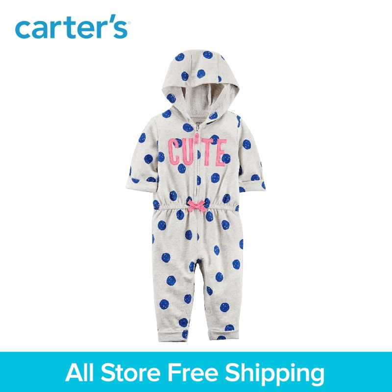 Carters baby children kids clothing girl spring&summer Cute Hooded Jumpsuit With a cozy hood 118H951