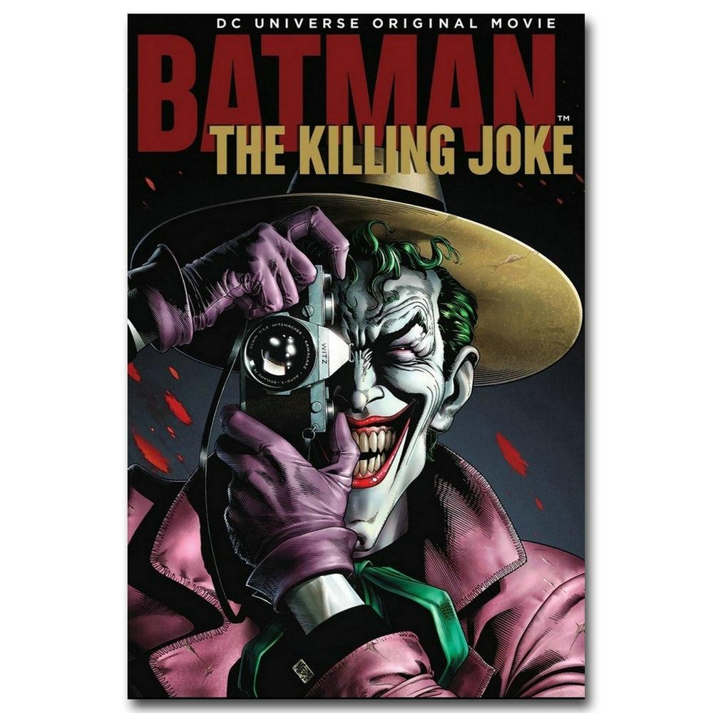 Joker Batman Superhero Comic Canvas Poster Wall Art Print Decor 12x18 24x36inch