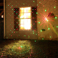 8 RG Patterns Waterproof Outdoor Led Landscape Lighting Garden Lawn With Remote Red Green Laser Projector Stars