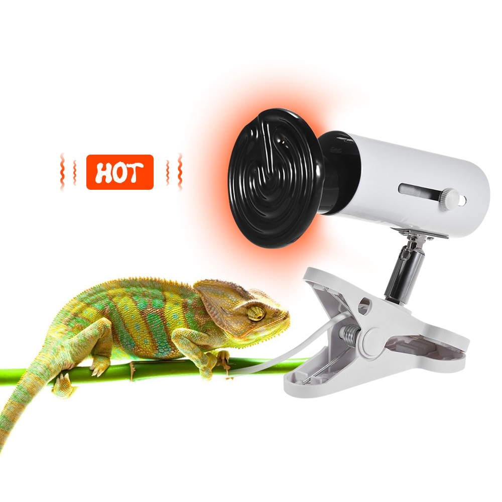 Pet Thermometer Control 3pcs Heat Emitter Set Includes 100W Ceramic Lamp Bulb Holder Temperature Controller for Reptiles