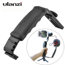 Ulanzi L Bracket W Dual Cold Shoe Mount Mic Stand Video Light for Zhiyun Smooth Q 4 3 Axis Handheld Gimbal Stabilizer Accessory