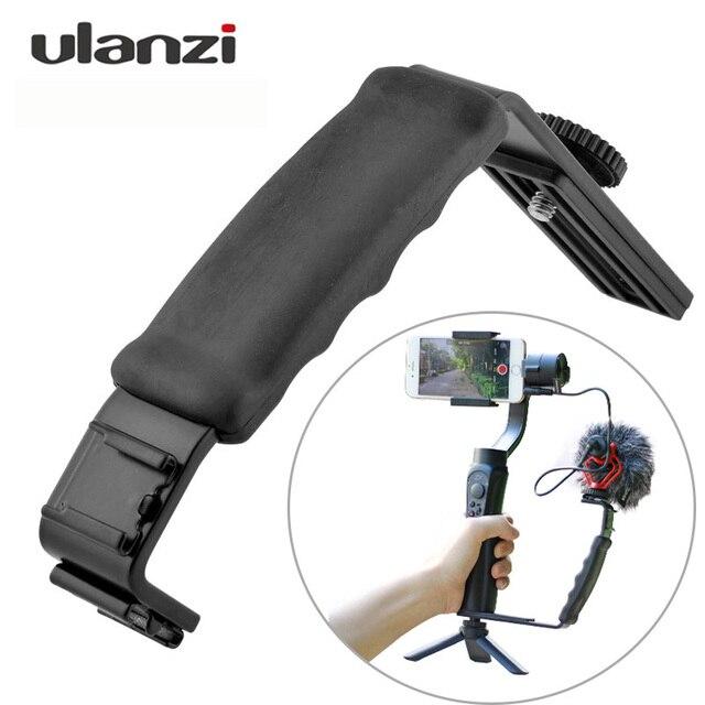 Ulanzi L кронштейн W с двойным креплением для холодной обуви, подставка для микрофона, видео Освещение для Zhiyun Smooth Q 4, 3 осевой Ручной Стабилизатор, аксессуар