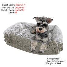 Новая кровать для собак 3 в 1 диван-коврик для маленькой/средней собаки и кошки удобный мягкий более наполненный 3-сторонний Противоскользящий и водонепроницаемый низ