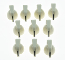 Pack of 50 White Guitar Chicken Head Knobs Guitar Mini Effect Pedal Knob