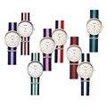 Relojes mujer 2016 KEZZI Vida Homem Ocasional Cinta de Nylon Liga de Moda de Luxo Relógios Assistiu À Prova D' Água Relógio de Quartzo Masculino