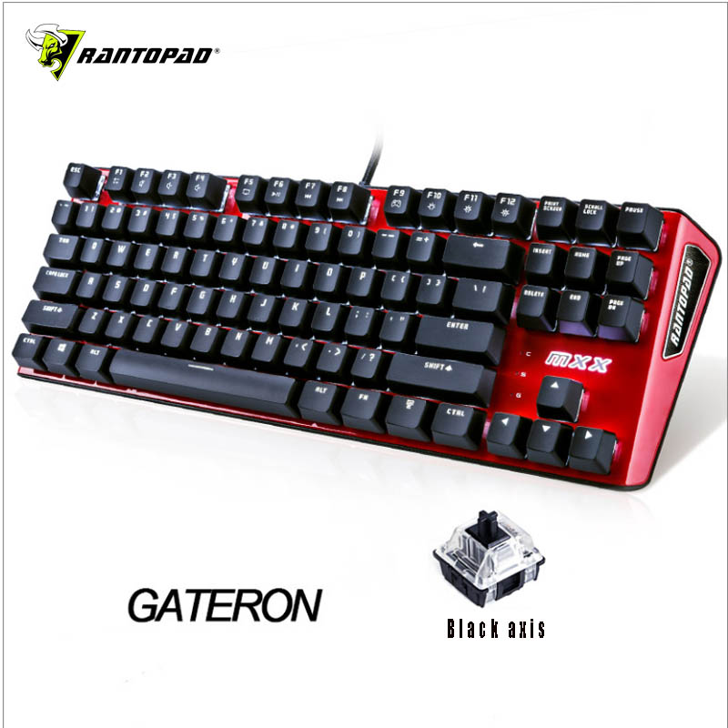 Image 4 - Rantopad MXX Cherry/GATERON Mechanical Gaming Keyboard 87 Key Deluxe Edition 4 Axis Aluminum Cover White Single Color RGB  LED-in Keyboards from Computer & Office