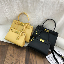 Yellow PU Leather Bags Designer Luxury Handbags for Women Shoulder Tote Bag Messenger Hot Fashion Ladies