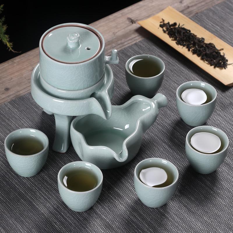 Glace craquelée porcelaine blanche chine Kung Fu thé ensemble classique thé tasse chinois traditionnel thé ensemble avec boîte-cadeau en céramique Drinkware