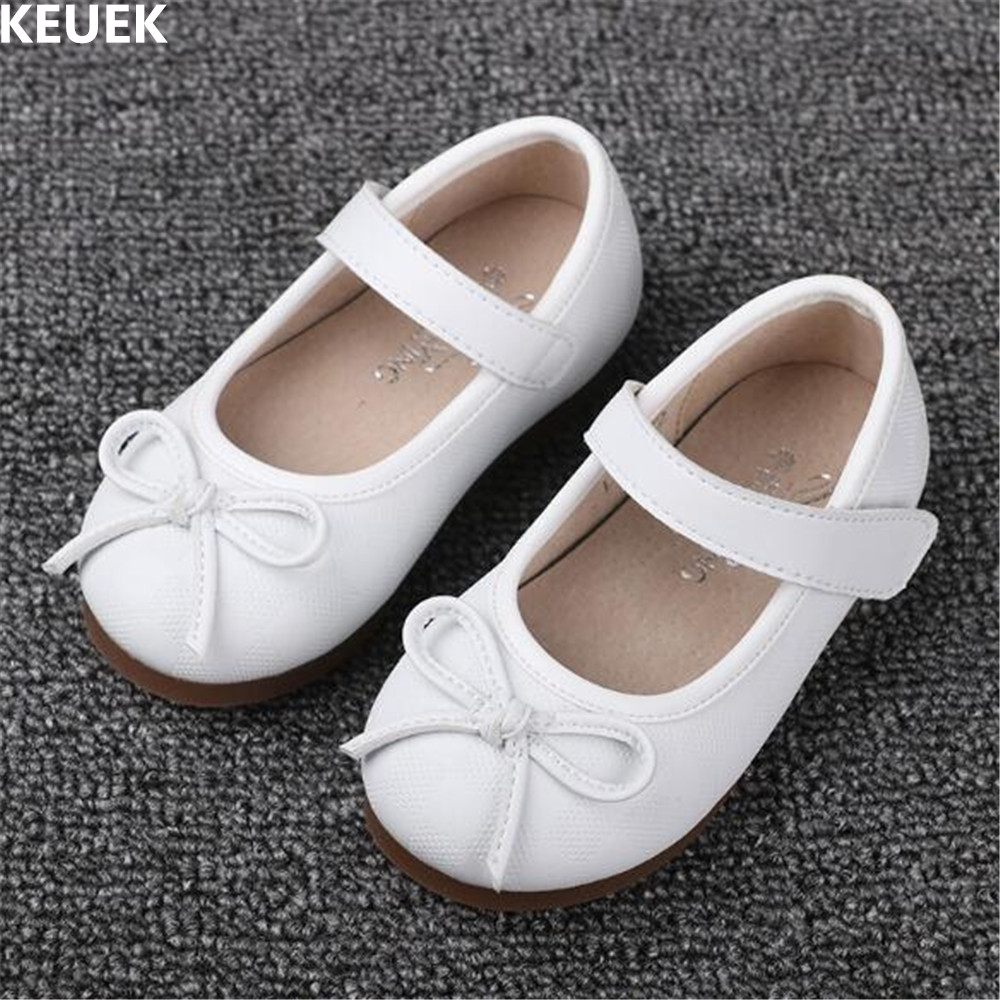 New Girls Shoes Princess Children Leather Shoes Baby Toddler Genuine Leather Student Breathable Flats Kids Shoes 02
