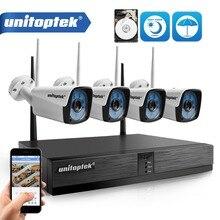 4CH HD 720 P Беспроводной NVR комплект 1.0MP Водонепроницаемый Открытый ИК Ночное Видение Plug and Play камера беспроводной связи wifi CCTV системы XMEye