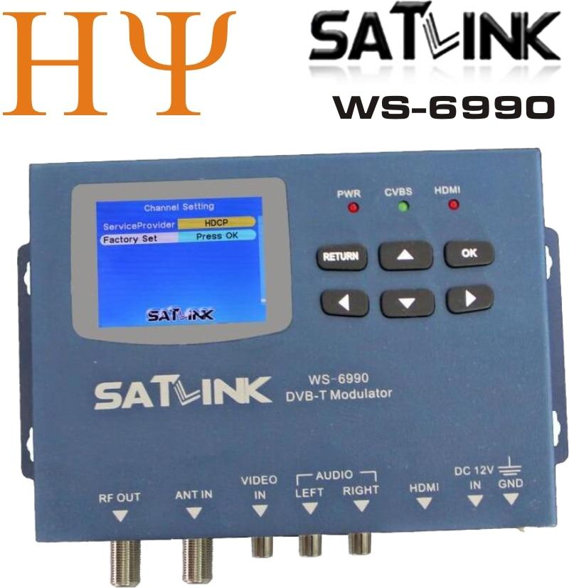 Satlink WS-6990 HD, AV input single-channel DVB-T Modulator Compact and wall mountable цена 2017