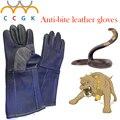 Luvas de couro Anti-agarramento Anti mordida 38 cm luvas de proteção de segurança mais grosso anti-fricção formação Animais de Estimação alimentação luvas