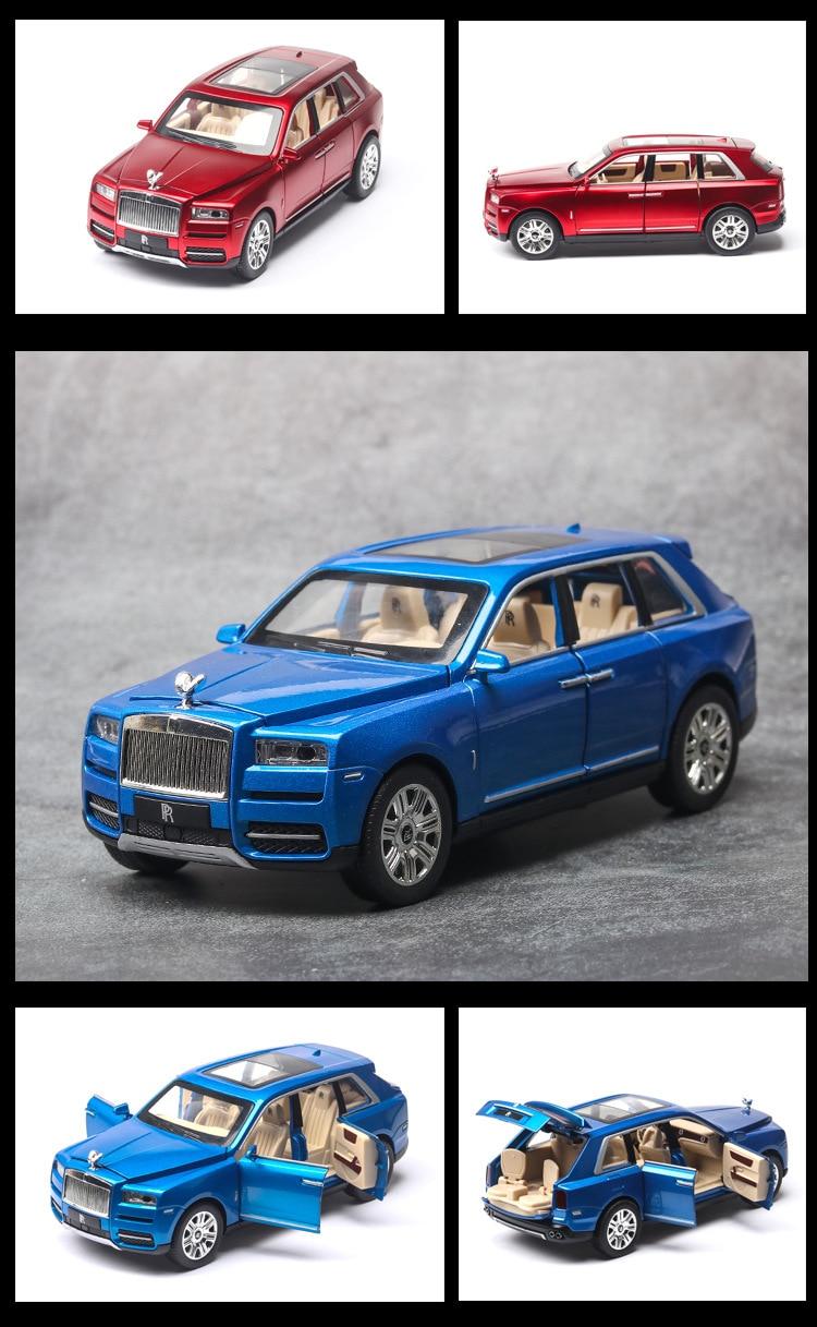 Rolls Royces Cullinan SUV Model Car with Metal Wheels, Sound & Lights 19