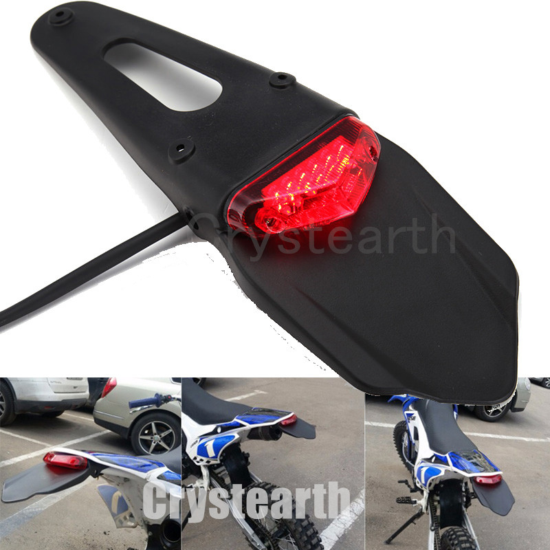 Universal Rear Fender LED Brake Red Tail Light Lamp with Bracket Taillight For KTM Off-road Motorcycle Motocross Dirt Bike