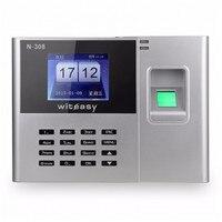 2.4 Polegada 600 Unidade Livre de Impressão Digital Do Usuário/Senha Comparecimento Do Tempo N-308