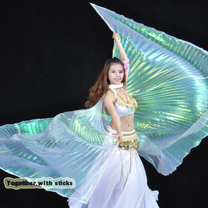Image 4 - 2019 Hot Selling Popular Women Egyptian Belly Dance Isis Wings Golden Belly Dancing Wing with Telescopic Rod stick on sale