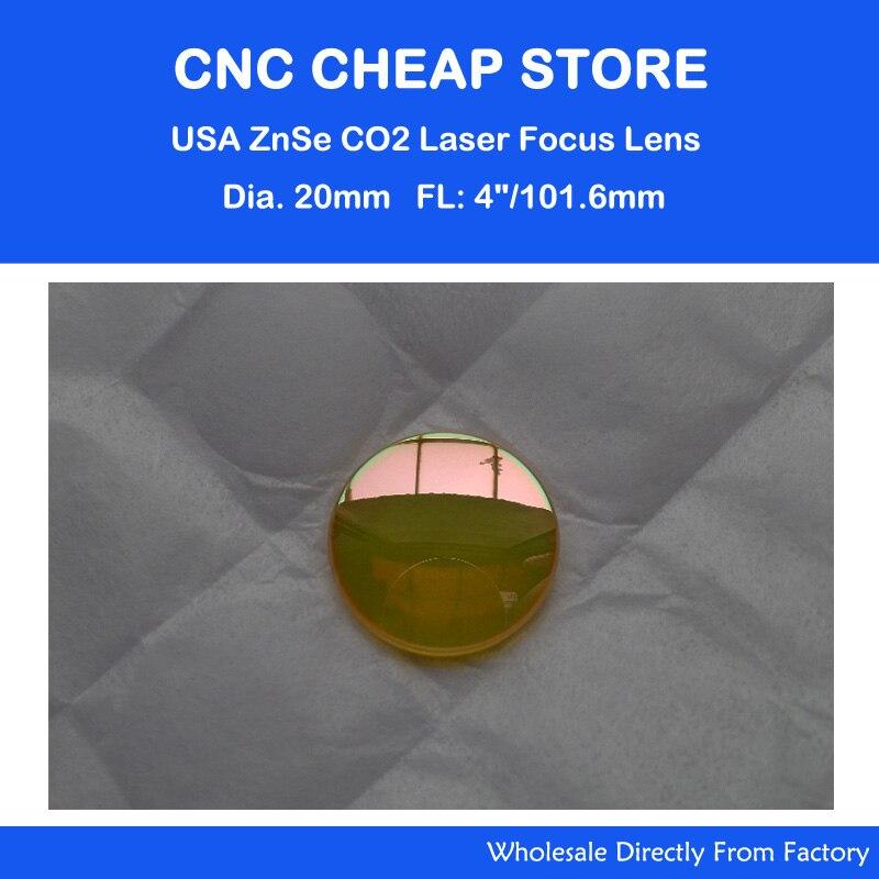 USA CO2 ZnSe Laser Lentille de Focalisation 20mm de Diamètre 40 W 50 W 60 W 80 W tube cutter graveur distance focale: 101.6mm